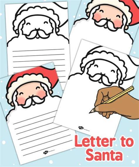 santas beard letter writing template twinkl