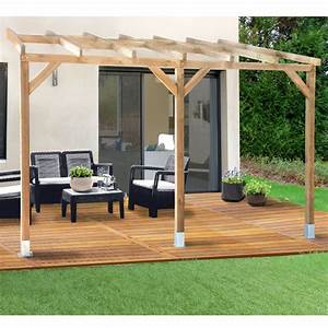 pergola adossee bois kit fashion designs With pergola de jardin leroy merlin 7 pergola bois 3x3