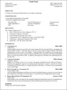 Writing A Resume For College by Writing A Resume Resume Cv
