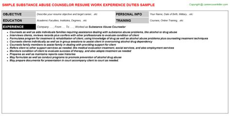 Substance Abuse Counselor Resume by Youth Counselor Resumes