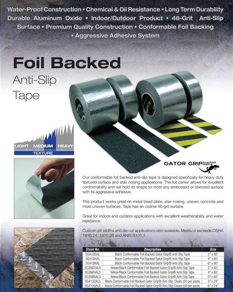 Boat Deck Non Skid Tape by Aluminum Conformable Non Skid Slip Grip Tape For Diamond