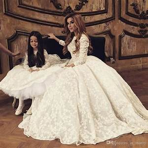 discount 2017 white full lace mother and daughter matching With matching mother daughter wedding dresses