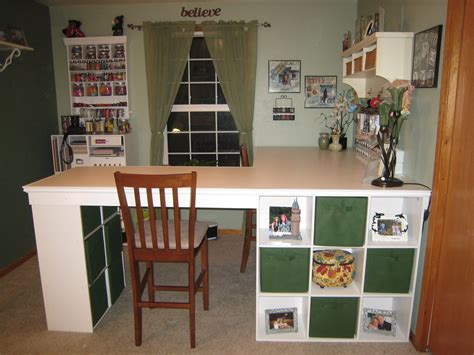 L Table With Storage by Do It Yourself White Craft Desk How To Build A Custom
