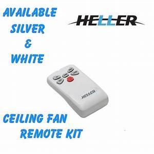 Heller ceiling fan and light remote control kit white
