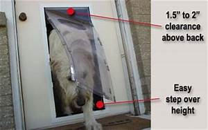 Measuring your pet for a pet door for Dog door size by breed