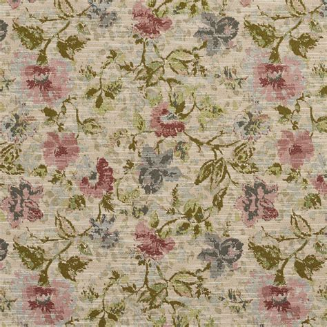 Floral Upholstery Fabric by A522 Floral Jacquard Upholstery Fabric