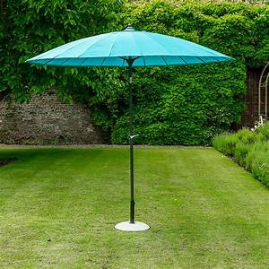 Geisha Garden Parasol In Aqua Blue Garden Parasols