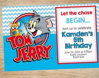 tom  jerry birthday invitation tom  jerry