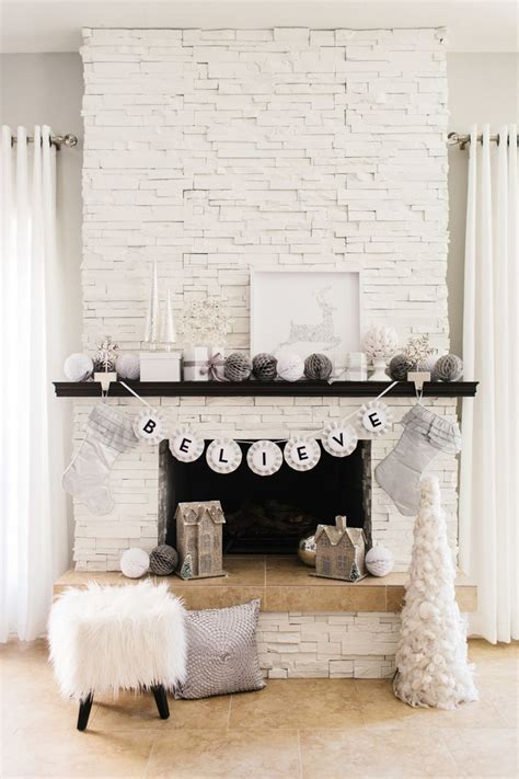 gorgeous glam holiday mantel fireplaces white stone