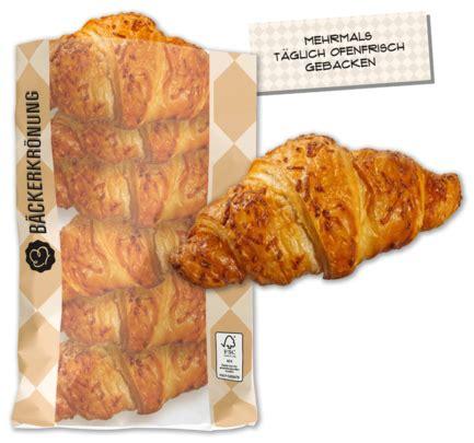 baeckerkroenung schinken kaese croissant von penny