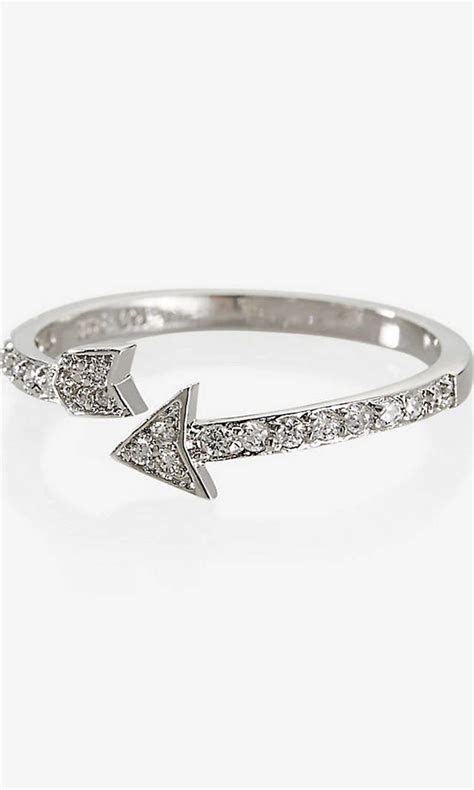 cubic zirconia pave arrow ring  express  images