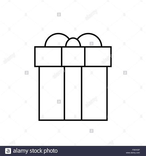 gift box thin line minimalistic hand draw logo present