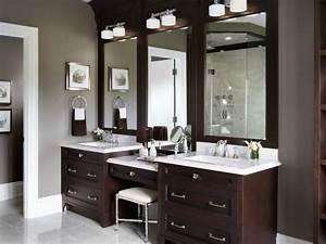 60 Bathroom Vanity Ideas with Makeup Station - Round Decor