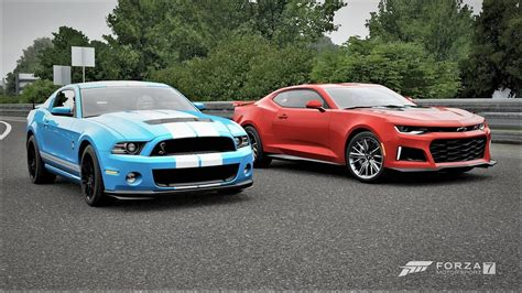 Mustang Vs Camaro Drag Race by Forza 7 Drag Race Ford Mustang Shelby Gt500 Vs Chevrolet