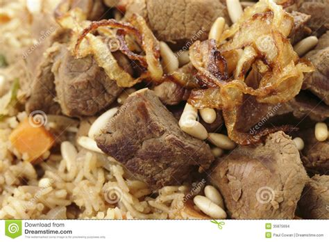 cuisine arabe 4 kabsa or majboos closeup stock images image 35875694