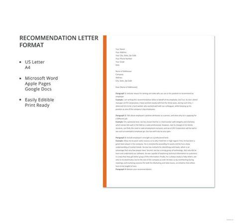 letter  recommendation  word samples sample