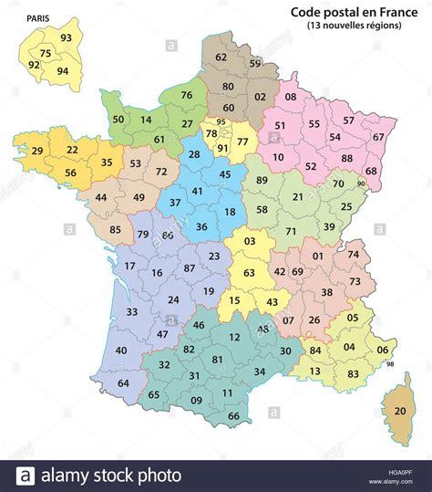 frankreich  stellige postleitzahlen karte