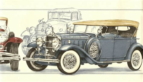 Classic Car Wallpaper Border by Antique Roadster Touring Cars Wallpaper Border Wall Ebay