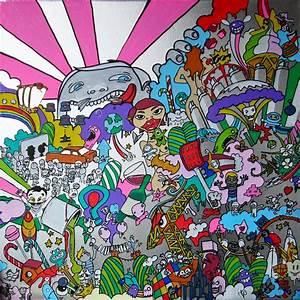 Toile Street Art : tableau peinture dessin croquis encadr s de ben labarthe ~ Teatrodelosmanantiales.com Idées de Décoration