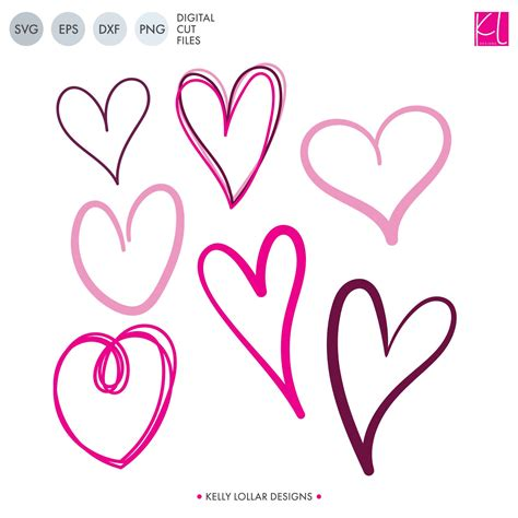 Free svg designs   download free svg files for your own. Free Doodle Hearts SVG Cut Files - Kelly Lollar Designs