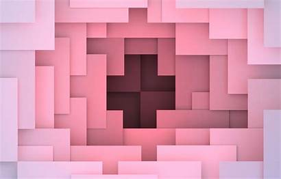 3d Abstract Background Colorful Pink Geometric Shapes