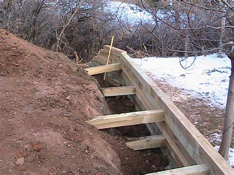 wood retaining wall construction deadmen2 diy sprinkler system installation repair landscaping