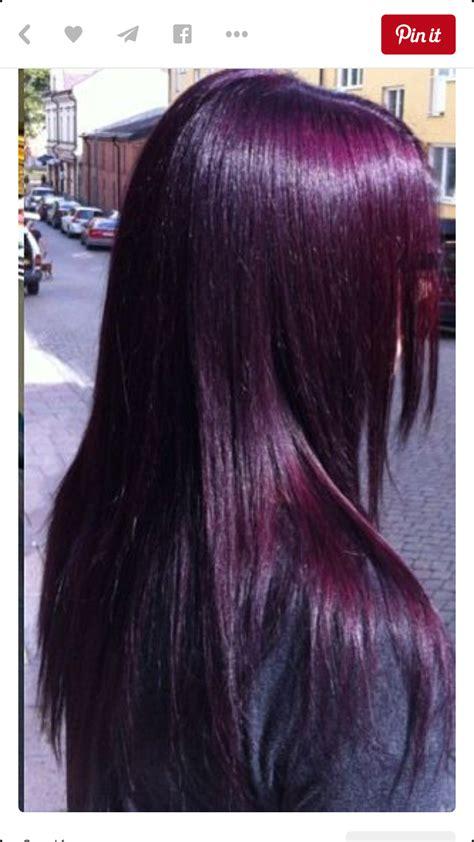 Eggplant Purple So Almost Black Hair Colorz Plum Hair