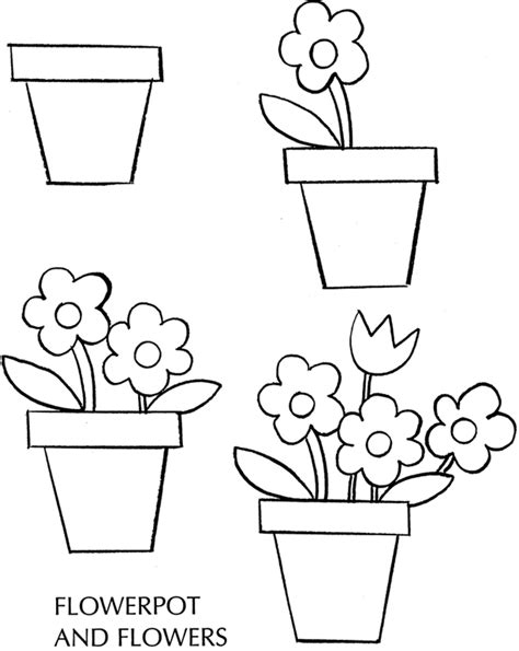 photos flower pot drawing drawing gallery