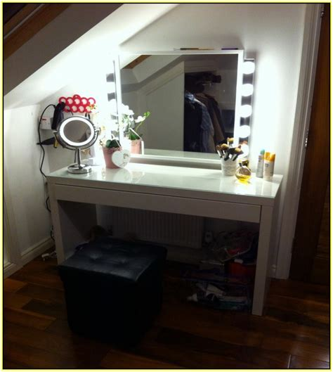 Vanity Desk With Lights Ikea by Ikea Makeup Mirror With Lights Makeup Vidalondon