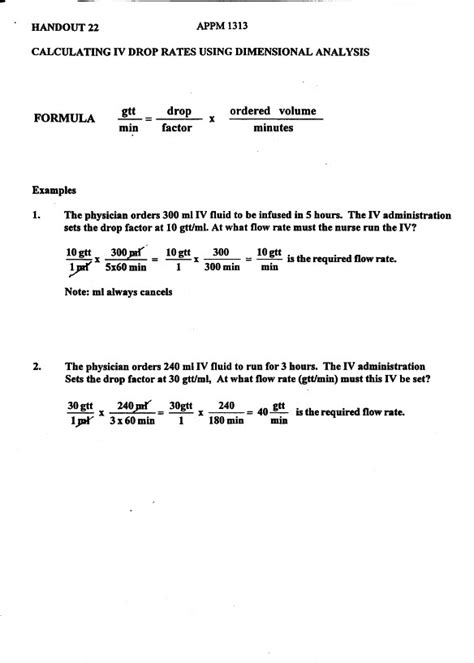 Dimensional Analysis Worksheet For Nursing Worksheets For All  Download And Share Worksheets