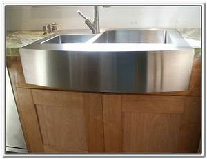 Flush mount stainless steel apron sink sinks and faucets for Flush mount apron sink