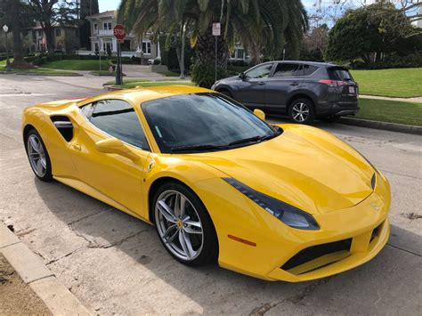 The ferrari 488 pista never ceases to amaze us so despite the fact that weve already seen the first reviews even a public road sighting of the track special can act like an attention magnet. Ferrari 488 GTB (Yellow) Rental In Los Angeles   Lion Heart Lifestyle