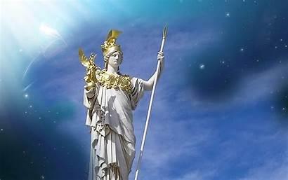 Greek Gods Mythology Wallpapers Goddess Athena Computer