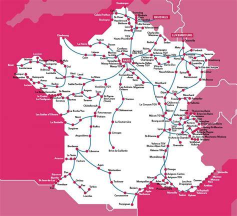foto de Tgv map France Tgv France network map (Western Europe