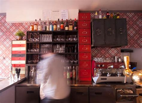 cuisine et decoration bistrot restaurant vintage industriel à la décoration