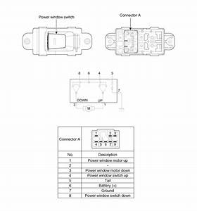 Kia Rio  Power Window Switch Circuit Diagram