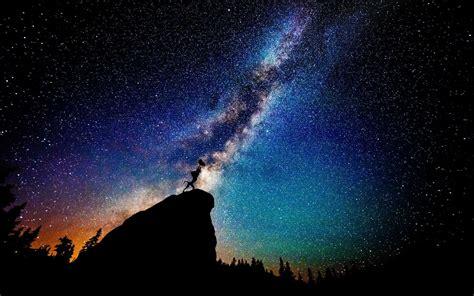 Wallpaper Landscape Night Nature Sky Silhouette