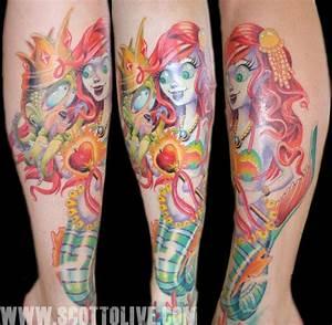 Miss Mermaid by Scott Olive : Tattoos
