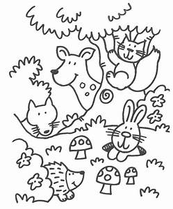 Theme forest animals coloring pages ~ Juf Milou