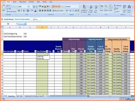 3 small business inventory spreadsheet template excel