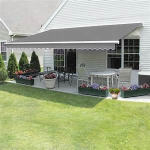 Patio, Diy, Manual, Awning, Garden, Canopy, Sun, Shade, Retractable, Shelter, Top, Fabric, H