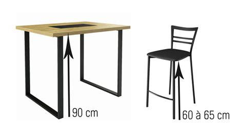 hauteur table bar pour cuisine tabouret pour table hauteur plan de travail