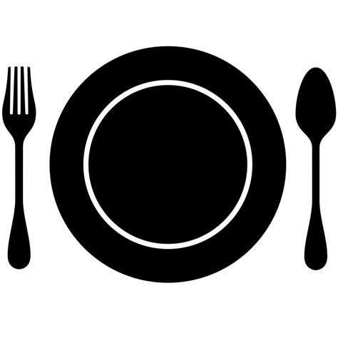 plate clipart plate cutlery plate plate cutlery