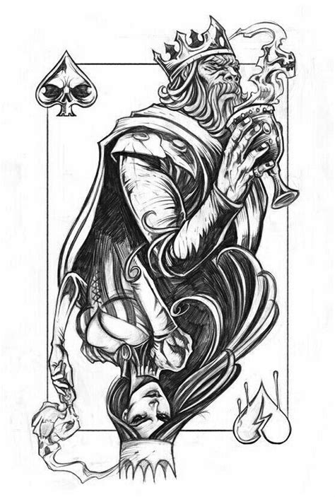 Sketch tattoo design image by eric west on stencil   King