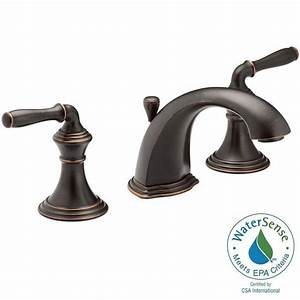 Kohler devonshire 8 in widespread 2 handle low arc for How to clean oil rubbed bronze bathroom fixtures