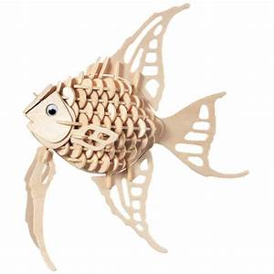 3D Wooden Tropical Fish Puzzle Hobbycraft