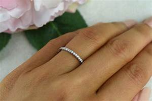 Small half eternity ring 15mm wedding ring engagement for Engagement wedding and eternity ring