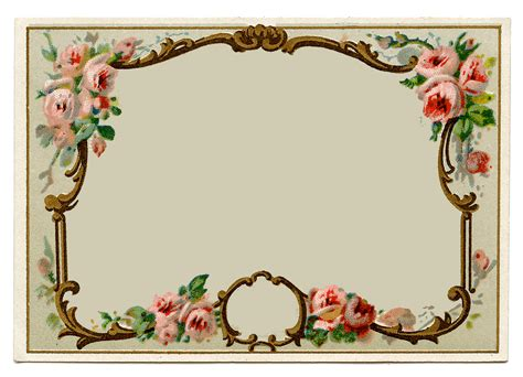 vintage clip art pretty french perfume label frame