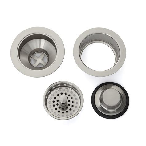 Kitchen Sink Drain Set   Basket Strainer & Disposer Flange