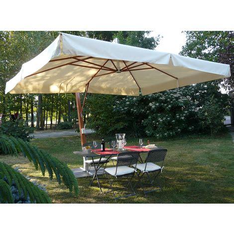 parasol rectangulaire d 233 233 coloris ecru dim h 340cm x